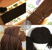 yarn doll hair diy