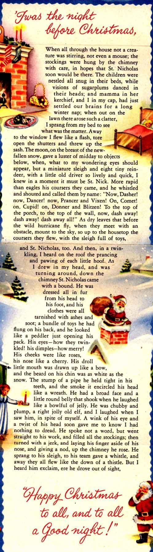 """twas the night before Christmas poem in a card form. Nice!"