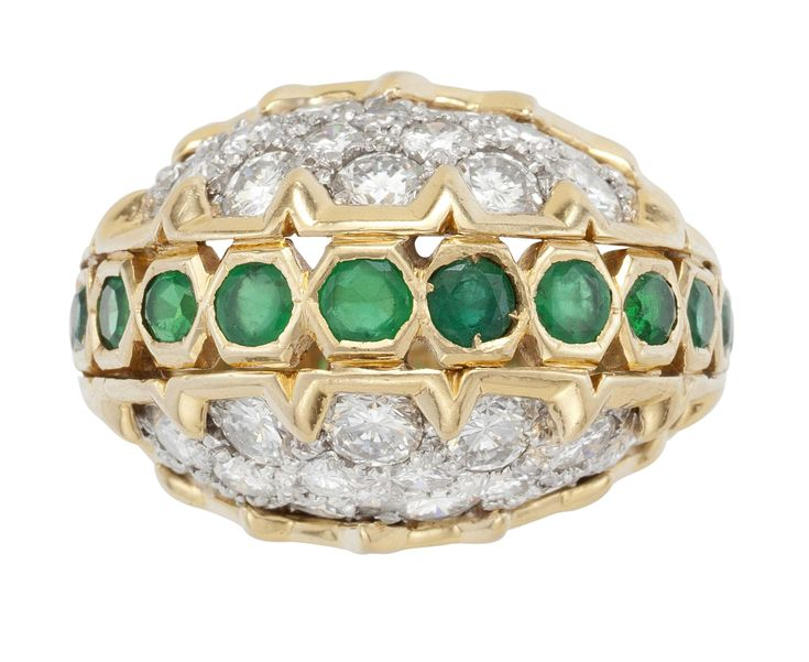 AN EMERALD AND DIAMOND RING  www.christies.com/unwrapped