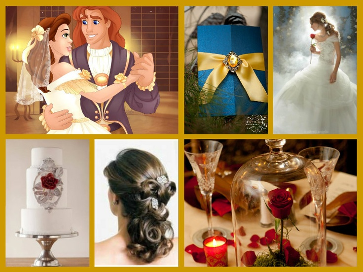 Image result for beauty and the beast theme wedding