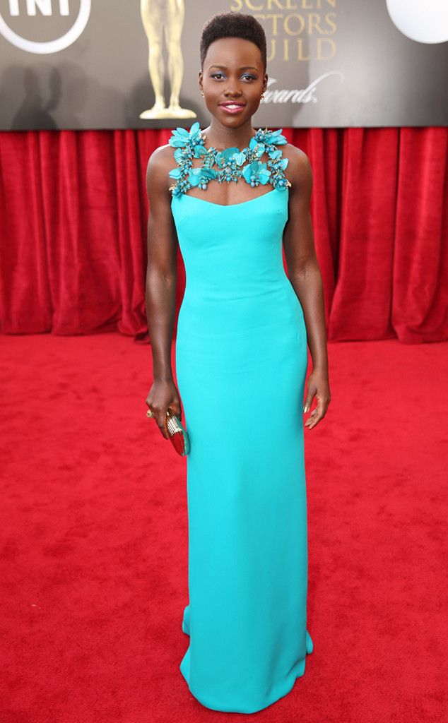 Lupita Nyong'o is absolutely breathtaking in Gucci at the SAG Awards! #fashion