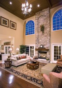 Two-Story family room | There's no place like Home | Pinterest