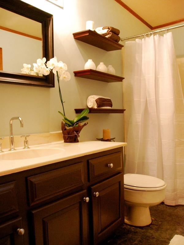 Bathroom Open Shelves  for the home  Pinterest