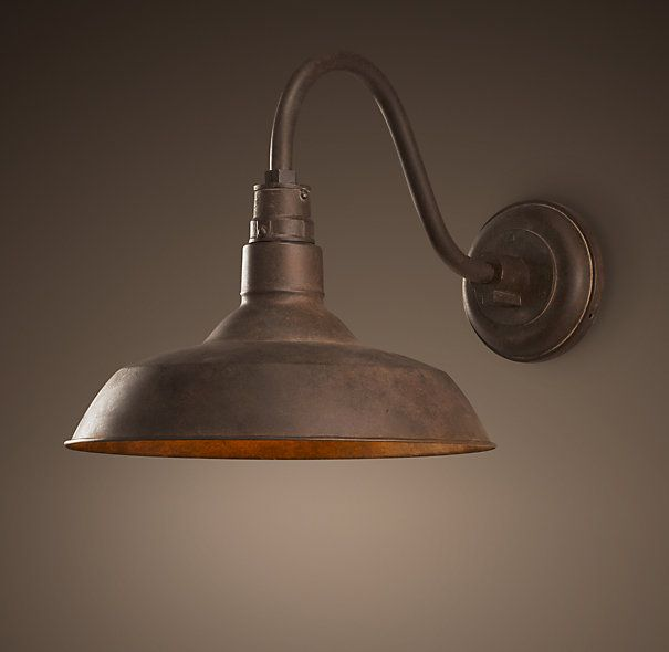 Vintage Barn Sconce Weathered Rust