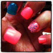 bright summer nail design nails