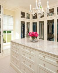 Walk in closet with island. | House Interior | Pinterest