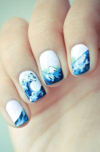 ocean nails | Nail Art | Pinterest