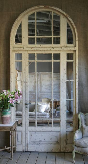 greige: interior design ideas and inspiration for the transitional home by christina fluegge: Mirrored architectual doors