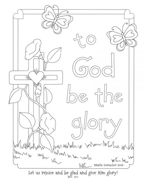 Coloring Page Sunday School Childrens Sunday School