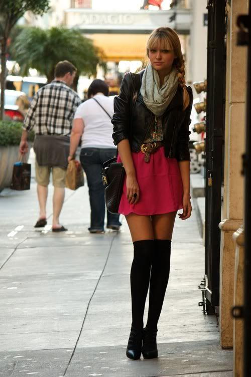 skirts and knee high socks