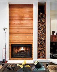 amazing fireplace + wood log storage | home pretties ...