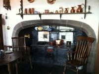 a walk-in fireplace