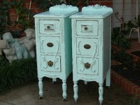 CUSTOM ORDER Pair of Shabby Chic NIGHTSTANDS Bedside