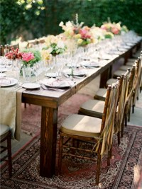Rustic outdoor farm table. | Hitched | Pinterest