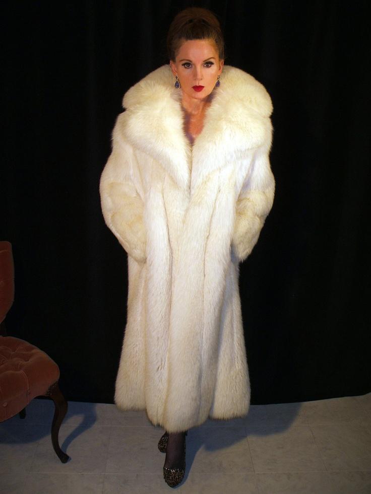 white fox fur coat  Blue Fox  Pinterest