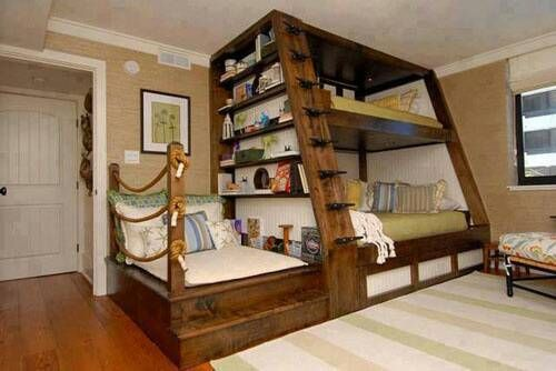 Reading Nook bunk beds
