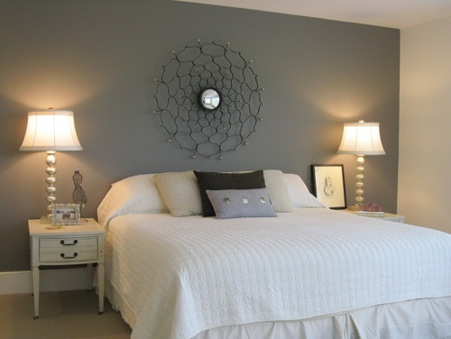 no headboard idea for bed  Decorating Ideas  Pinterest