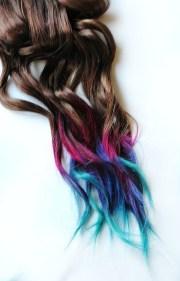 rainbow ombr hair
