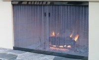 Cascade Coil outdoor fireplace screen. | Products we've ...