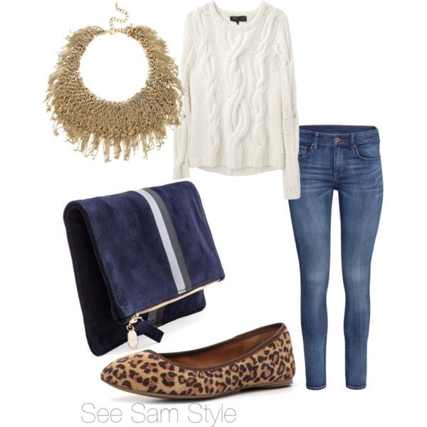 """""""Leopard flats and jeans"""" by serdarsa on Polyvore"""