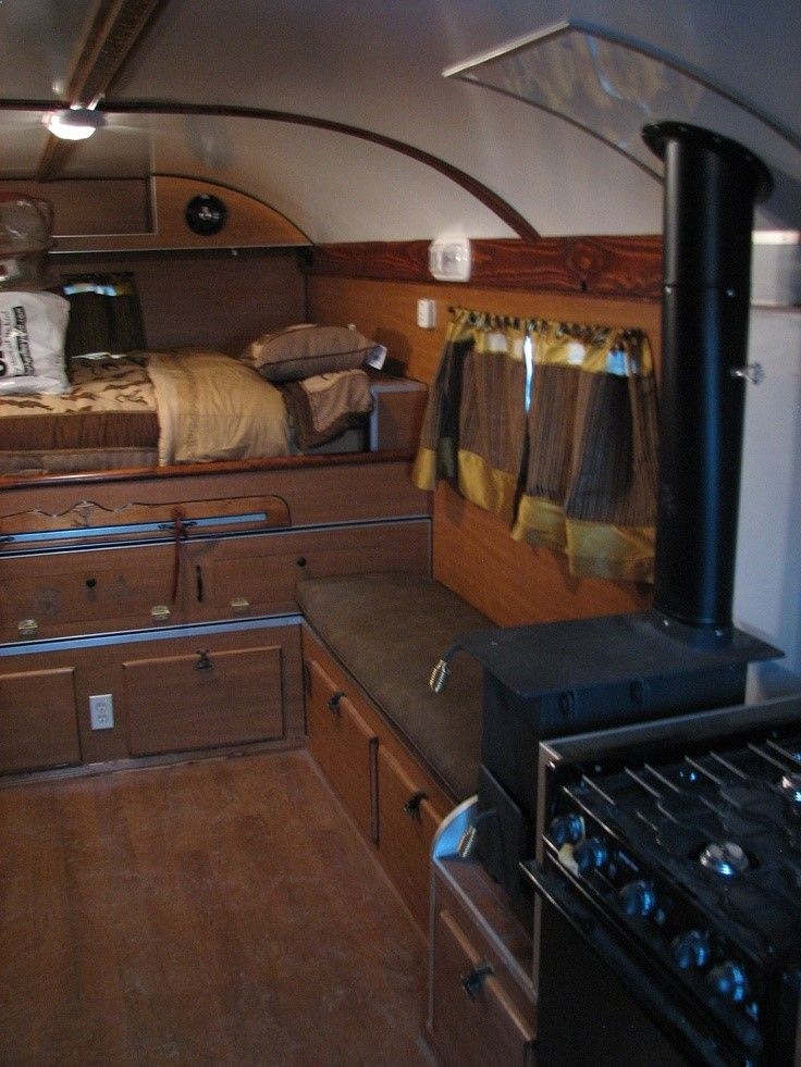 bus conversion  camping  Pinterest