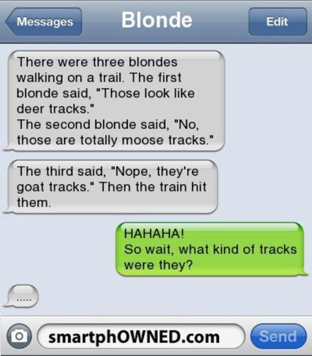 Clean Funny Blonde Jokes