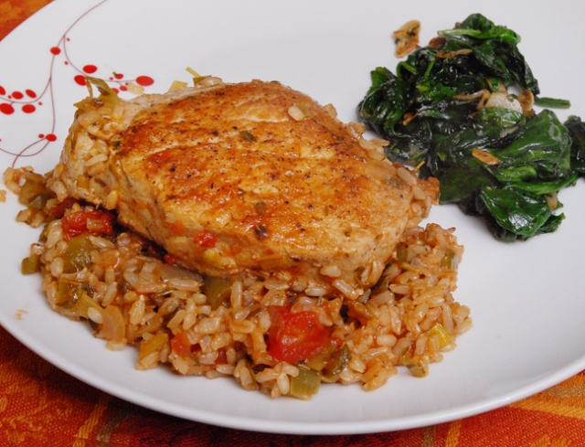 seared pork chops recipe over dirty rice pork recipes pinterest