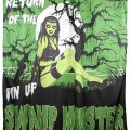 Fast swamp pin up shower curtain rockabilly punk retro monster zombie