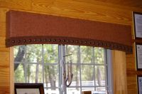 western window treatments | Rustic/Western cornice board ...