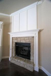 Molding around fireplace | Game room? | Pinterest