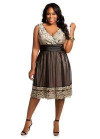 Brown dress plus size | Fashion | Pinterest