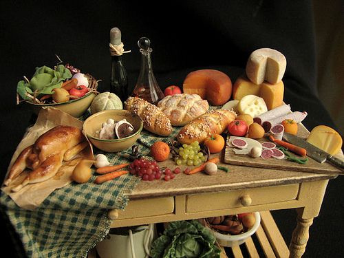 Dollhouse feast by goddess of chocolate, via Flickr