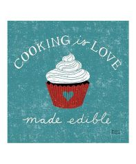 Those meals when you can taste the love are so deeply special. Love this. :: 'Cooking Is Love' Canvas Wall Art