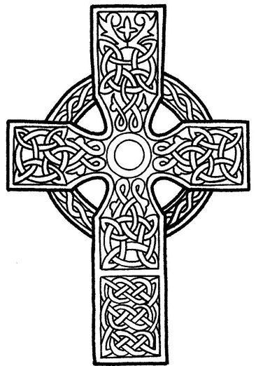 Celtic Cross Coloring Coloring Pages