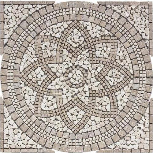 FLOORS 2000 Medallions Multi Colored Natural Stone Mosaic