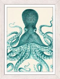 Wall decor poster Vintage octopus n33- sea life poster ...