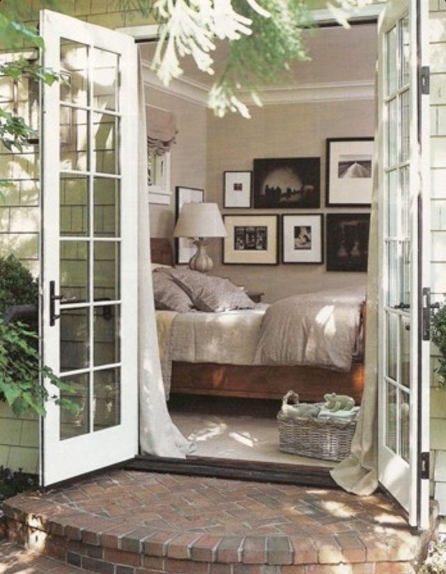 Bedroom  French doors  Bedroom Sanctuaries  Pinterest