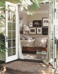 Bedroom ~ French doors | Bedroom Sanctuaries | Pinterest