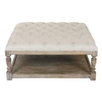 ZENTIQUE-- Square Tufted Ottoman | Furniture Pieces I Love ...