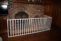 DIY PVC Pipe Fireplace Baby Gate