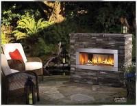 small fireplace back patio | Backyard | Pinterest