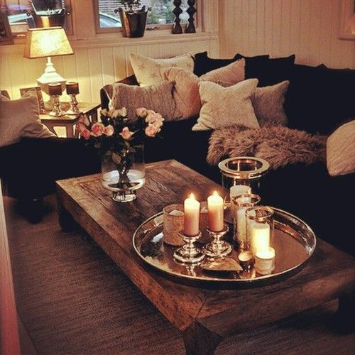 candles and pillows :)