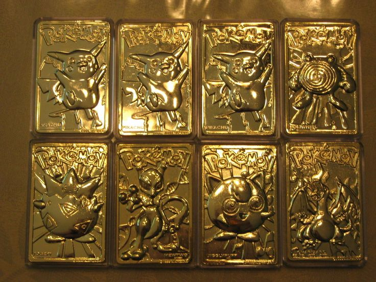 14k gold plated pokemon cards gold plated cards pinterest
