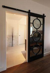 mirrored sliding barn door | Dream Home | Pinterest