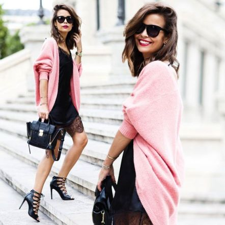 Slip Dress com Pink #streetstyle #pinkaboutit #pink #thinkpink #fashionlooks #pinkcoatlook #pinkcoat #philliplimbag