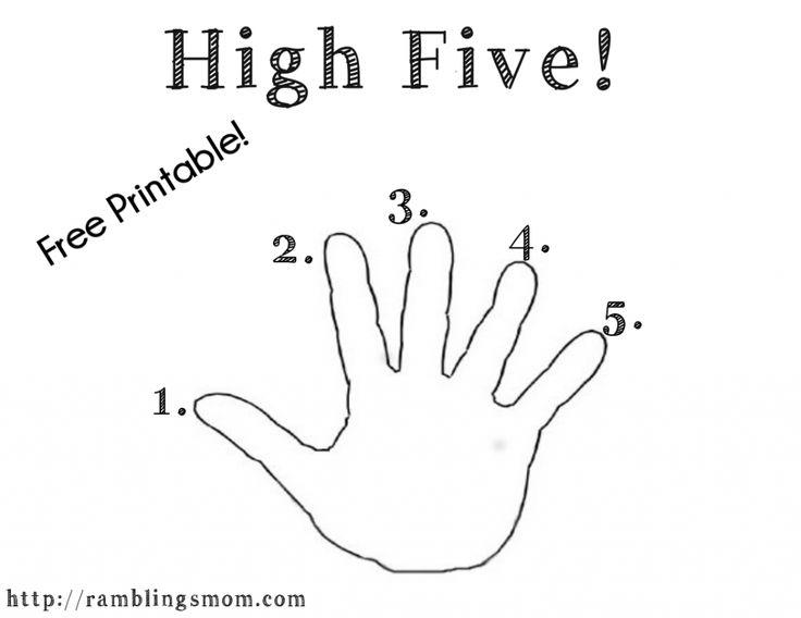 image regarding Five Finger Prayer Printable identified as √ 5 Finger Prayer Coloring Website page 5 Finger Prayer