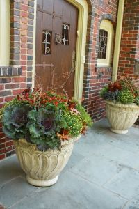 Fall Outdoor Pots Ideas Photograph | fall planters | Fall De