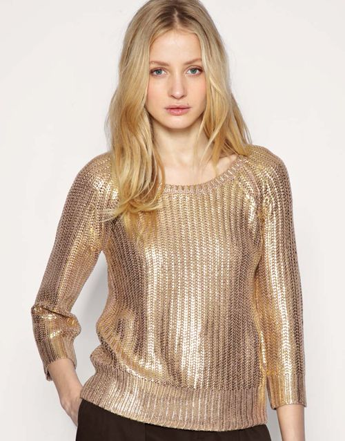 golden sweater