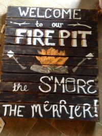 Fire pit pallet sign DIY | Fall | Pinterest