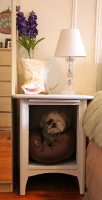 Dog bed side table | My Four Legged Child | Pinterest